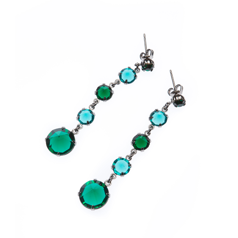 earrings, paladium
