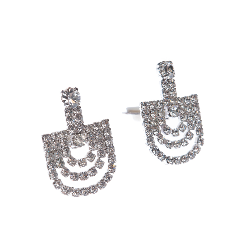 earrings, clips, silver