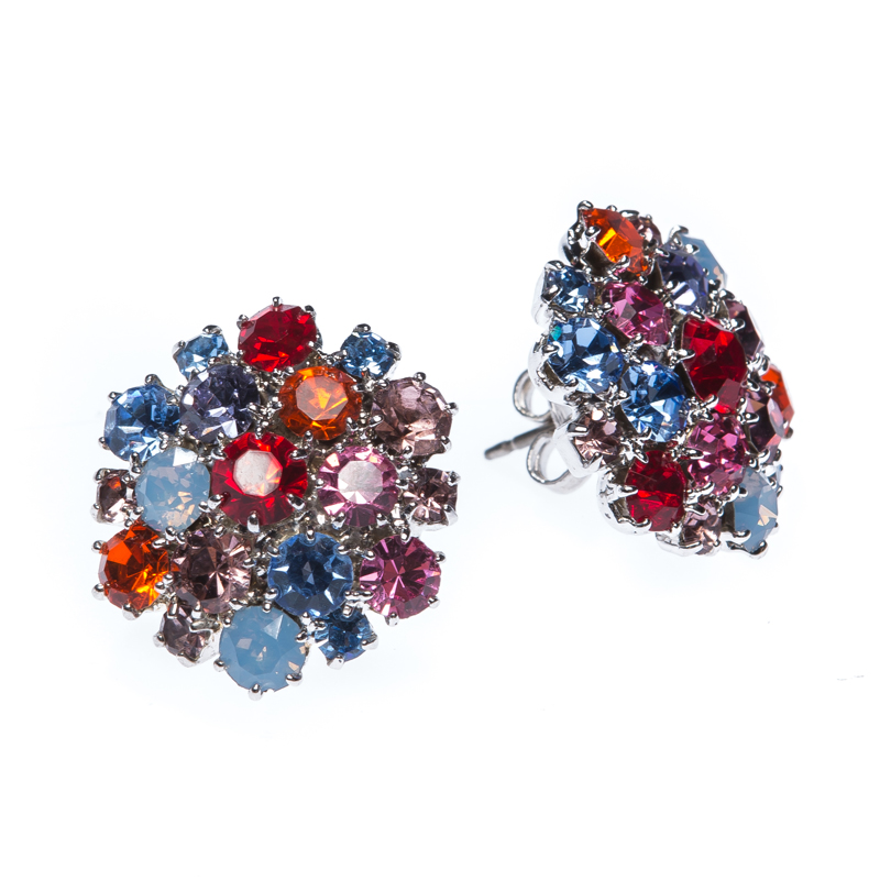 Beautiful earrings made from czech rhinestones in spring colours