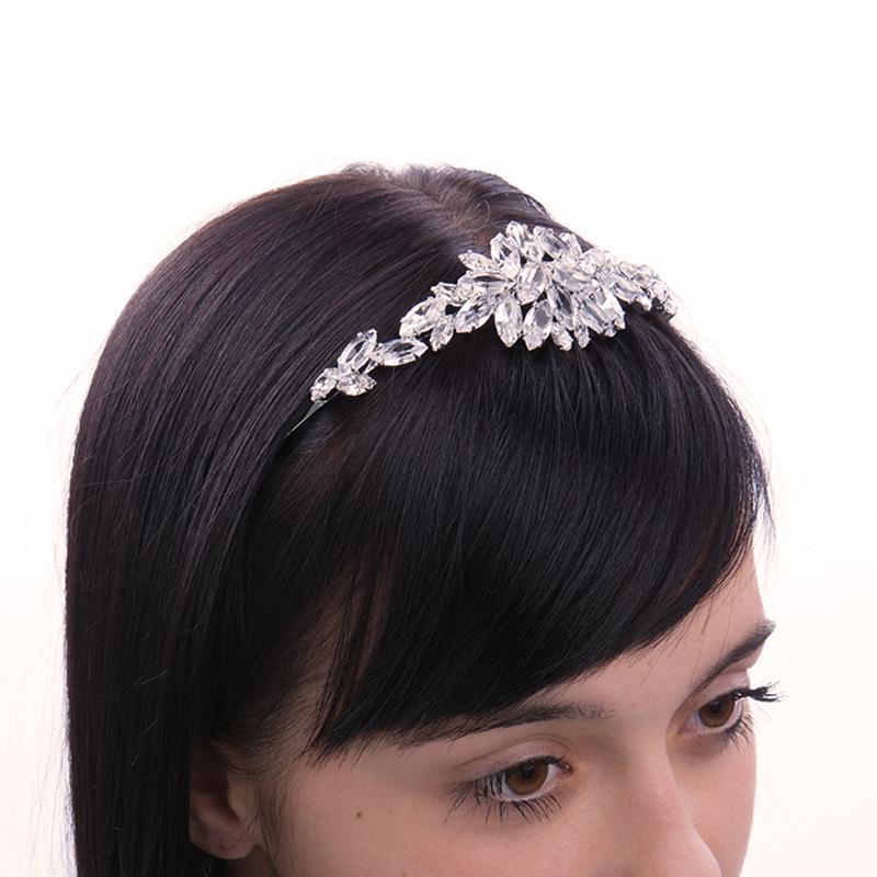 wedding tiara crystal / silver