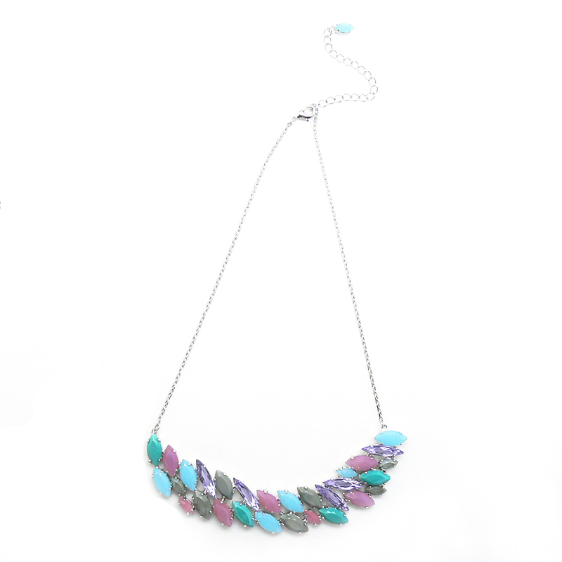 Chic Necklace multiple colors - rhodium