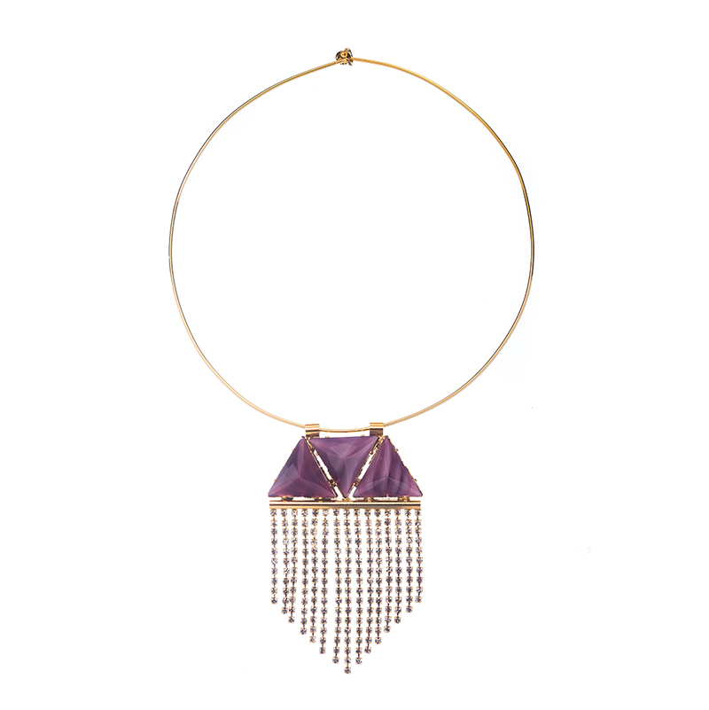 Noble Necklace Purple Triangles
