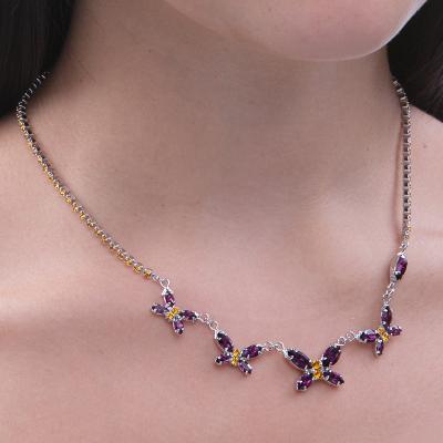 Butterfly motive necklace