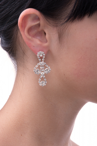 elegant earrings, silver plating