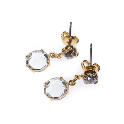earrings, gold