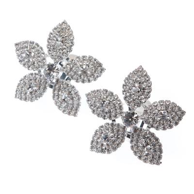 massive earrings, clips, silver