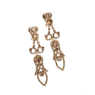 Exclusive earrings, antique gold