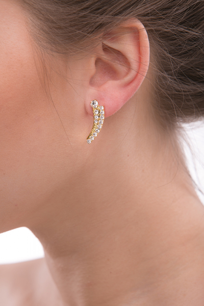 earrings, gold