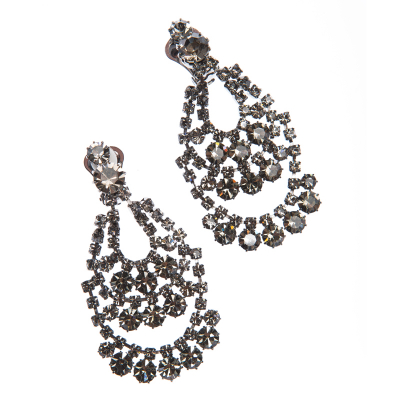 elegant earrings, paladium