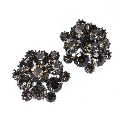 Exclusive earrings made from Czech rhinestones.
