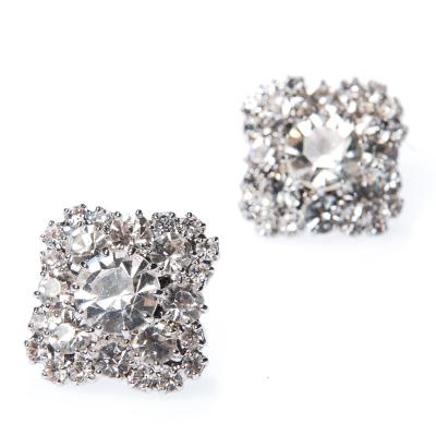 Strass earrings pin