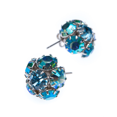 Fashion earrings rhodium
