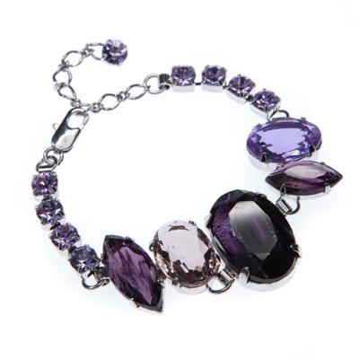 elegant bracelet, rhodium plating