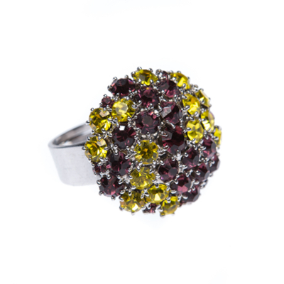 Beautiful ring made from czech rhinestones