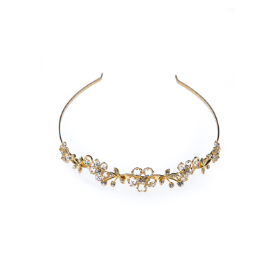 wedding tiara crystal / gold