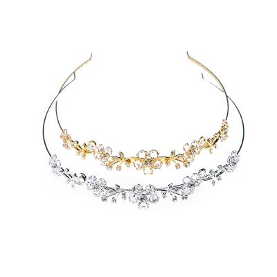 wedding tiara crystal / gold